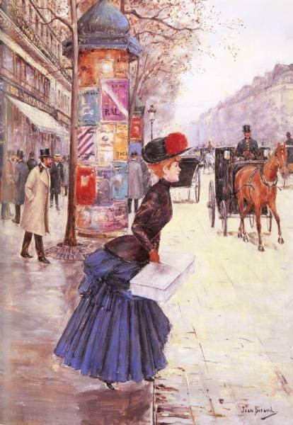 Jeune Femme Traverrsant Le Boulevard